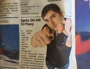 Zeitungsbericht über DJ PASCY